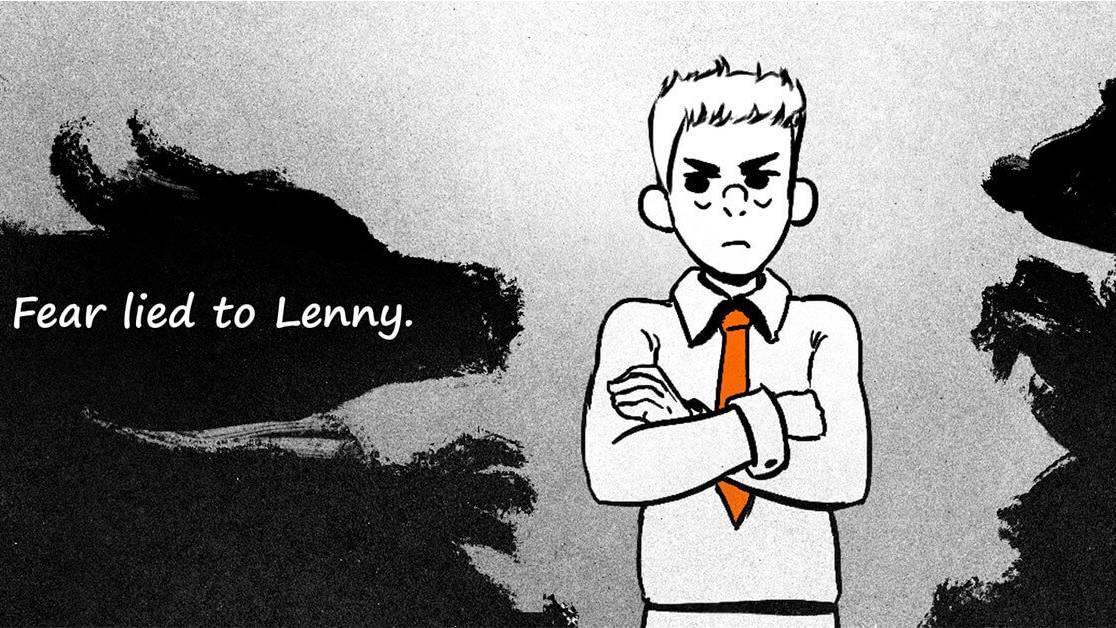 Lenny overcoming his fears shadows facebook