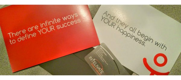 business cards about happiness and success