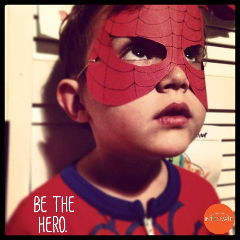 10 Ways To Be a Powerful Leader Taught By Children Intelivate's Ebony Clark's son in a hero costume