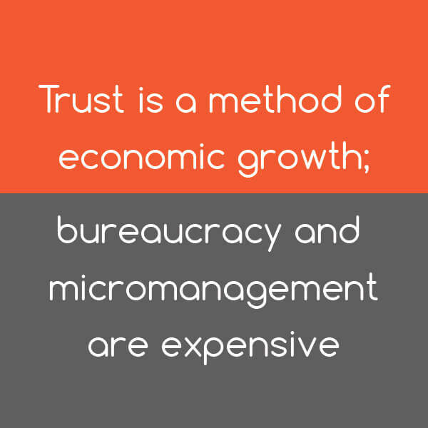 Tip: Trust is a method of economic growth