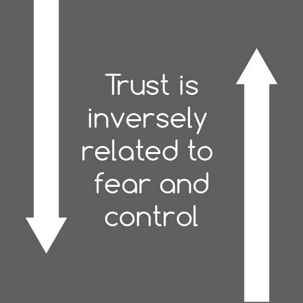 Tip: Trust is related to fear and control - leadership competencies and authentic leadership