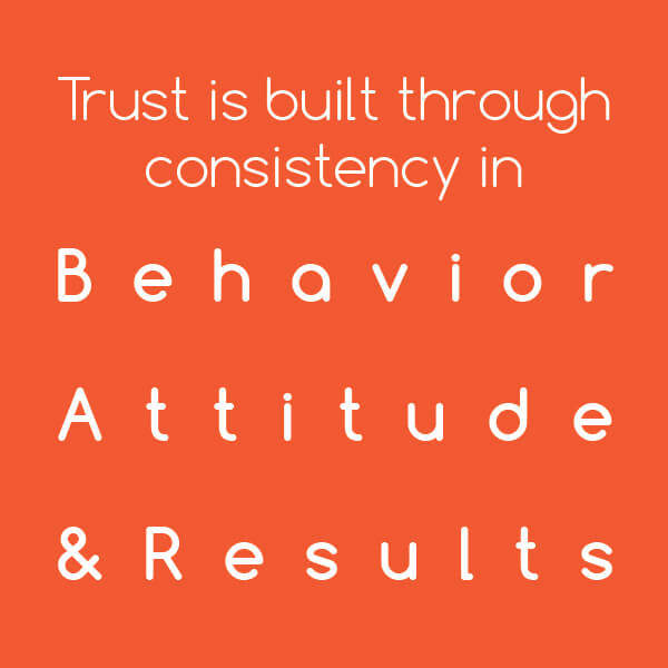 Tip: Building trust through consistency in behavior, attitude, and results - leadership competencies and authentic leadership