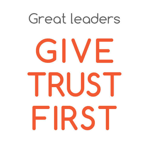 trust and leadership Visualized quote from aubrey mcgowan's article position and authority will give you followers, but trust will make you a leader art from gracewaymedia.