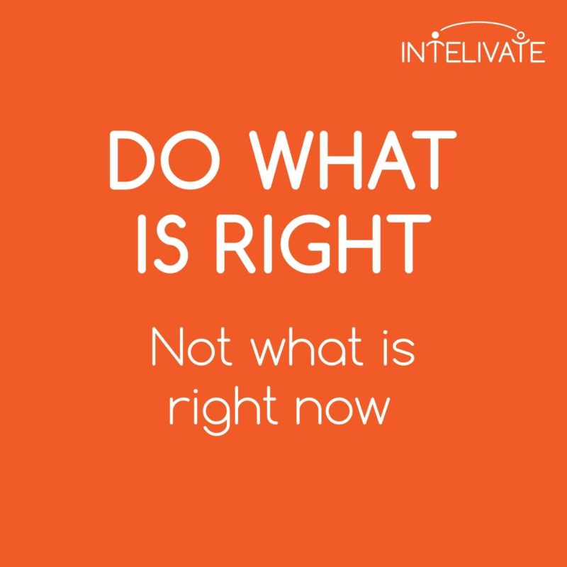 intelivate do right not right now square poster orange