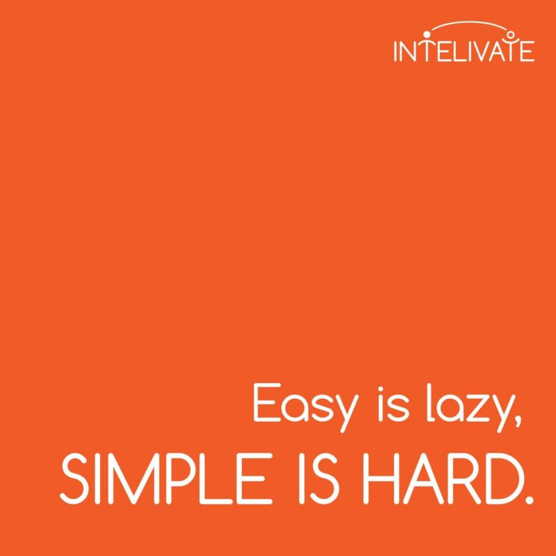 intelivate easy lazy simple hard square poster orange