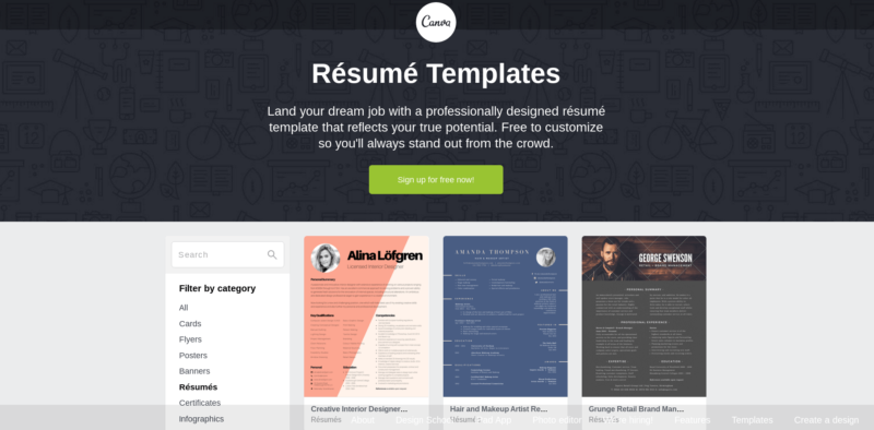 resume strategies design customize and submit