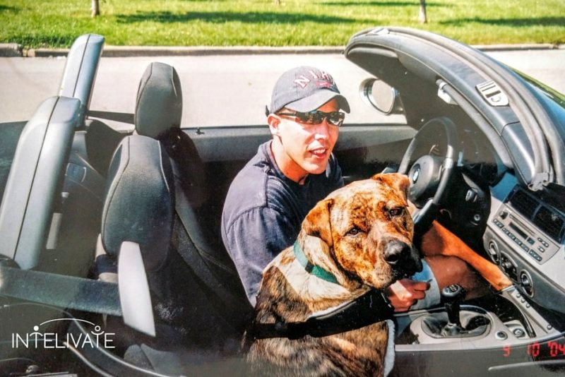 Effective leadership behaviors Taught By Rescued Dogs Kris Fannin and Marcus in the car - Intelivate Leadership and Life Lessons Taught by Rescue Dogs - CoPilot