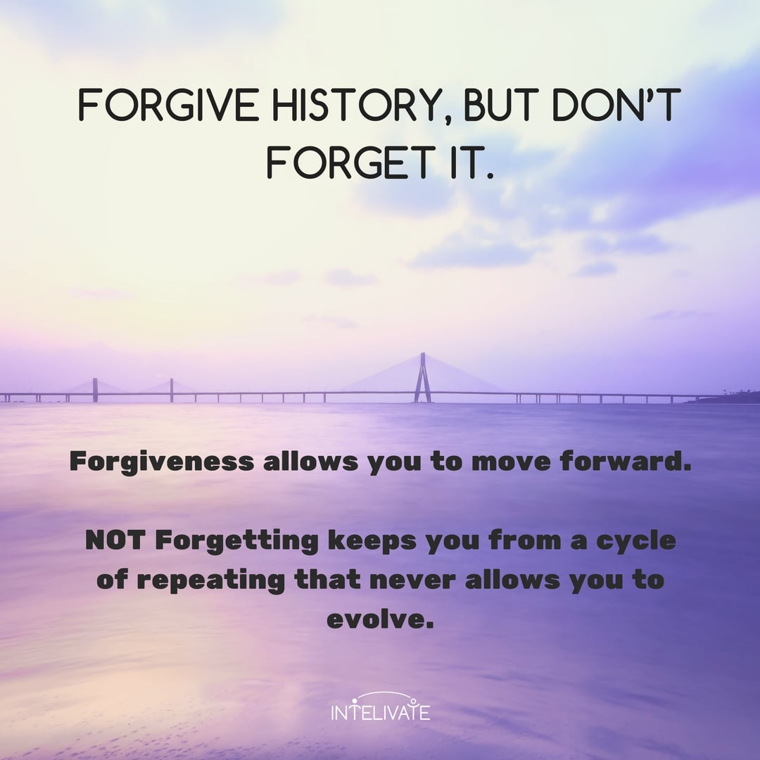 Forgiving - but not forgetting - the core of you personal problems is critical to maintaining your motivational levels and staying on path. Kris Fannin Intelivate