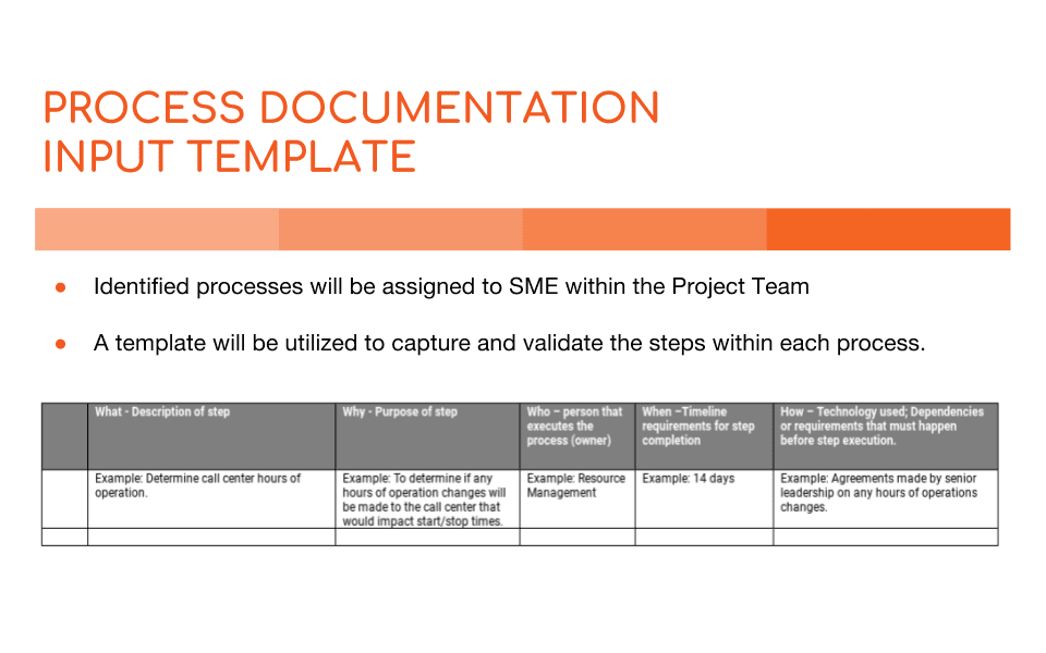 Process documentation why its vital and how to do it business process documentation template input and summary flashek Images