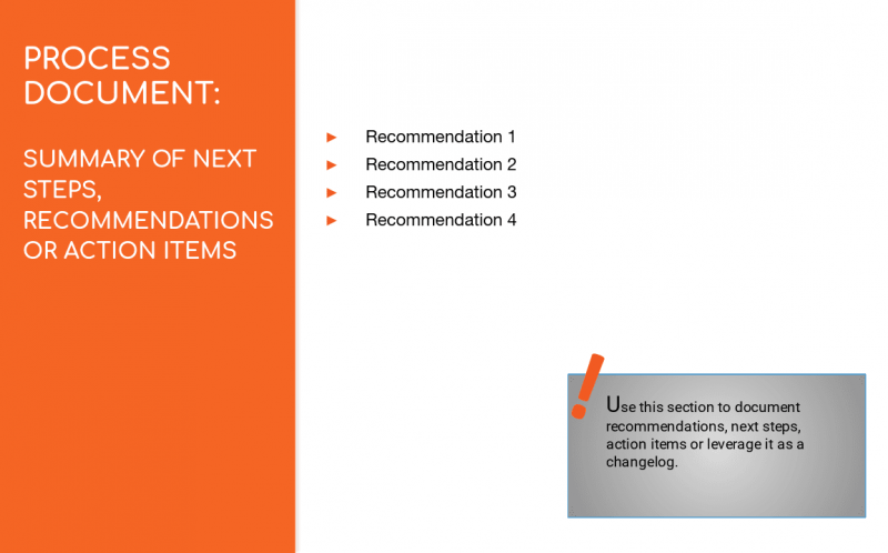 process documentation summary recommendations intelivate kris fannin