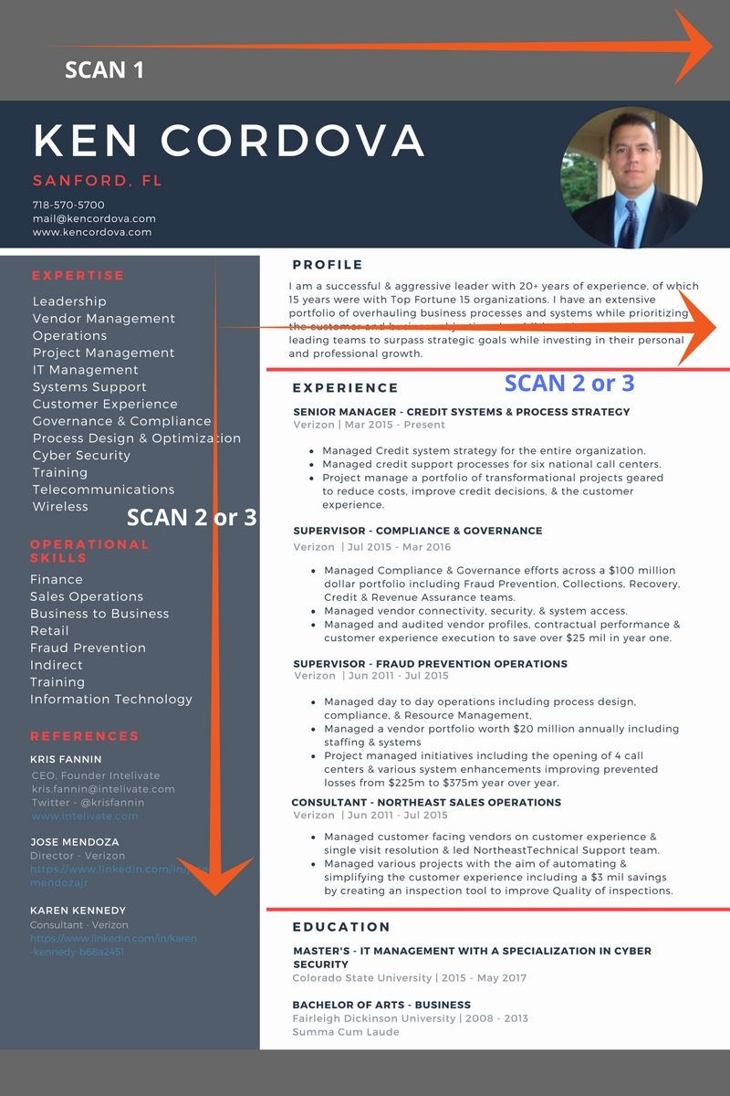 Simple Resume Model Career Portfolio Example Ken Cordova Resume Scan  Intelivate