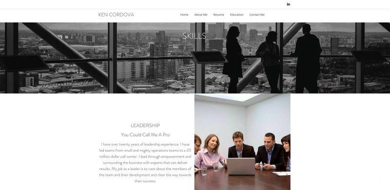 simple resume model career portfolio example skills section ken cordova intelivate